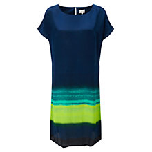 Buy East Silk Shift Dress, Navy Online at johnlewis.com