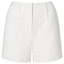 Buy Phase Eight Tessa Broderie Shorts, White Online at johnlewis.com