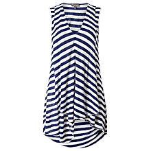 Buy Phase Eight Maisie Stripe Top, Azure/White Online at johnlewis.com