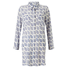 Buy East Pineapple Print Long Shirt, Blue Online at johnlewis.com