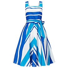 Buy Phase Eight Madeline Stripe Dress, Blue/Multi Online at johnlewis.com