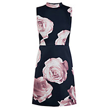 Buy Oasis Rose Print Shift Dress, Navy Online at johnlewis.com