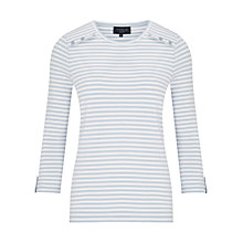 Buy Viyella Stripe Jersey Top, Pale Blue Online at johnlewis.com