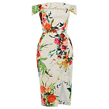Buy Oasis Floral Bardot Dress, Multi/Natural Online at johnlewis.com