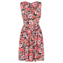Buy Oasis Tropical Floral Sundress, Multi/Orange Online at johnlewis.com