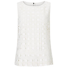 Buy Phase Eight Alba Lace Shell Top, White Online at johnlewis.com