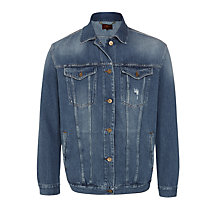 Buy 7 For All Mankind Oversized Trucker Jacket, Victoria Blue Online at johnlewis.com