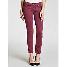 Buy 7 For All Mankind Roxanne Slim Cropped Jeans, Riche Sateen Online at johnlewis.com