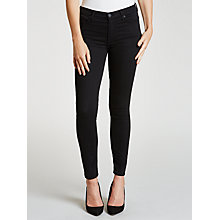 Buy 7 For All Mankind High Waist Cropped Skinny Jeans, Riche Sateen Black Online at johnlewis.com