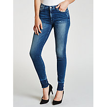 Buy 7 For All Mankind High Waist Skinny Slim Illusion Jeans, Blue Steel Online at johnlewis.com