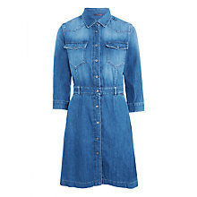 Buy 7 For All Mankind Denim Dress, Victoria Blue Online at johnlewis.com