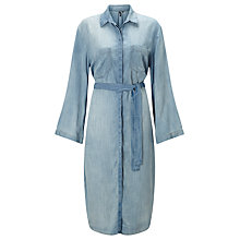 Buy ST Studio Kimono Sleeve Shirt Dress, Medium Blue Online at johnlewis.com