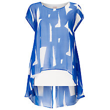 Buy Phase Eight Tula Print Silk Blouse, Blue/White Online at johnlewis.com