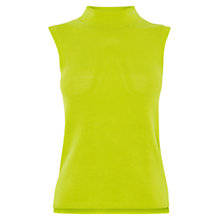 Buy Karen Millen Differential Hem Knit Top, Lime Online at johnlewis.com