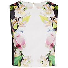 Buy Ted Baker Diivine Forget Me Not Crop Top, Black Online at johnlewis.com