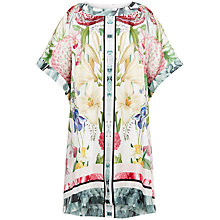 Buy Ted Baker Geyle Encyclopaedia Floral Loose Fit Tunic Dress, Ivory Online at johnlewis.com