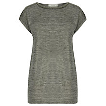 Buy Oasis Embellished T-Shirt, Mid Grey Online at johnlewis.com