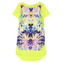 Buy Karen Millen Mirrored Palm Print Silk Dress, Multi Online at johnlewis.com