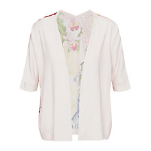 Buy Ted Baker Gemy Encyclopaedia Floral Wrap Cardigan, Nude Pink Online at johnlewis.com