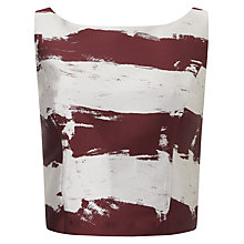 Buy Phase Eight Brush Stroke Top, Aubergine/Oyster Online at johnlewis.com