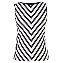 Buy Karen Millen Graphic Stripe Top, Blue / White Online at johnlewis.com