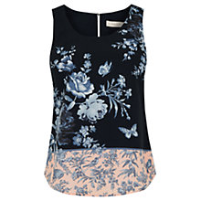 Buy Oasis Placement Floral Vest, Multi/Natural Online at johnlewis.com