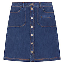 Buy Gerard Darel Denim Cache Skirt, Light Indigo Online at johnlewis.com