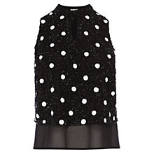 Buy Coast Elsa Spot Sequin Top, Mono Online at johnlewis.com