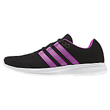 Buy Adidas Lite Runner Women's Running Shoes, Black/Purple Online at johnlewis.com