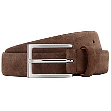 Buy John Lewis Suede Leather Belt, Brown Online at johnlewis.com