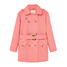 Buy Mango Kids Girls' Classic Trench Coat, Pink Online at johnlewis.com