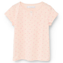 Buy Mango Kids Girls' Star Print Pyjama Set, Pastel Orange Online at johnlewis.com