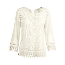 Buy Fat Face Harlyn Crochet Cover Up, Ivory Online at johnlewis.com