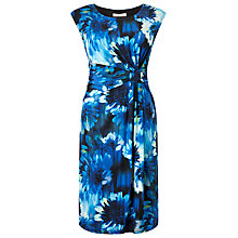 Buy Precis Petite Blurred Floral Print Dress, Blue Online at johnlewis.com