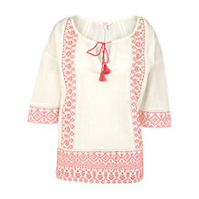 Buy Fat Face Constantine Embellished Kaftan, Ivory Online at johnlewis.com