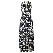 Buy Precis Petite Palm Print Maxi Dress, Black Online at johnlewis.com