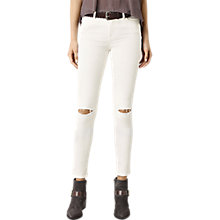 Buy AllSaints Grace Slashed Jeans, Chalk White Online at johnlewis.com