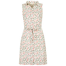 Buy Fat Face Miya Petal Vines Shirt Dress, Ivory Online at johnlewis.com
