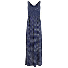 Buy Fat Face Freya Batik Ditsy Maxi Dress, Navy Online at johnlewis.com