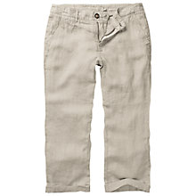 Buy Fat Face Linen Cropped Trousers, Limestone Online at johnlewis.com
