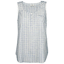 Buy Fat Face Cara Stripe Camisole, White Online at johnlewis.com