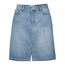 Buy Fat Face Amy Split Front Skirt, Light Denim Online at johnlewis.com