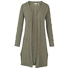 Buy Fat Face Longline Shenley Cardigan, Khaki Online at johnlewis.com