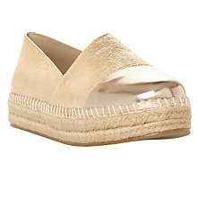 Buy Steve Madden Prioriti Contrast Toe Espadrilles, Gold Online at johnlewis.com