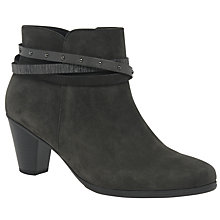 Buy Gabor Solero Block Heeled Ankle Boots, Anthracite Online at johnlewis.com