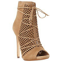 Buy Steve Madden Maddye Cut Out Ankle Boots, Sand Online at johnlewis.com