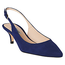Buy L.K. Bennett Mira Sling Back Court Shoes, Navy Online at johnlewis.com