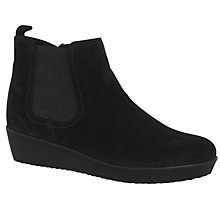 Buy Gabor Ghost Wide Suede Ankle Boots, Black Online at johnlewis.com