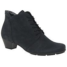 Buy Gabor Mega Lace Up Ankle Boots, Navy Online at johnlewis.com