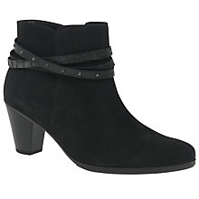 Buy Gabor Solero Block Heeled Ankle Boots, Black Online at johnlewis.com